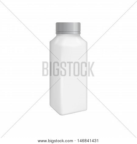 Plastic juice bottle template. Blank packaging isolated on white background. Package template. Realistic 3d pack. Mock up layout design. Drink plastic bottle vector isolated. Plastic packaging layout. Juice bottle packaging. Packaging ready for design.