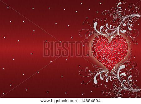 red abstract Valentinstag Hintergrund