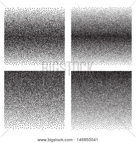 Vector retro style dotwork background. Abstract dotted stippling engraving