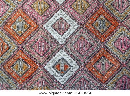 A close up of an antique carpet in Turkey. poster