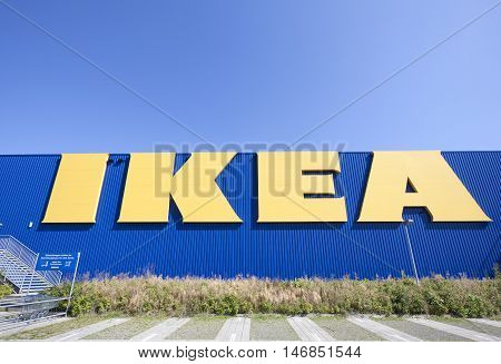 SIEGEN GERMANY - SEP 8 2016: New IKEA store in Siegen. North Rhine Westphalia Germany. IKEA is the world's largest furniture retailer company