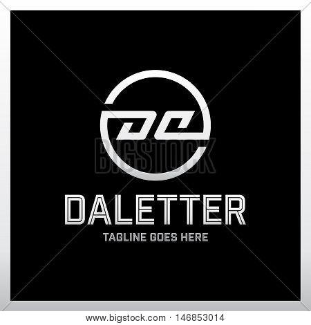 Circle Fully Mirror Da Company Linked Letter Logo