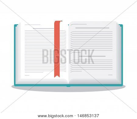 One open book icon. Learning knowledge and library theme. Colorful design. Vector illustration