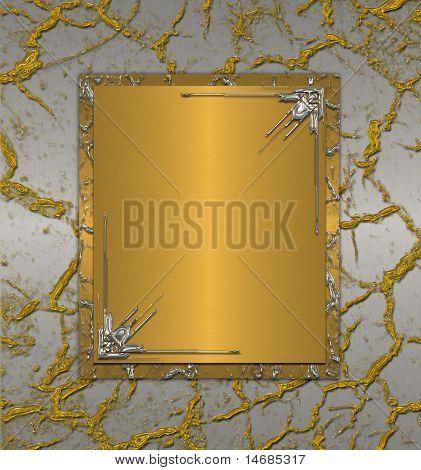 Silber mit Gold Risse Vintage background
