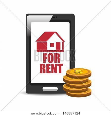 real estate house apartament rental isolated design vector illustration eps 10