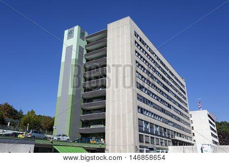 SIEGEN GERMANY - SEP 8 2016: Jung Stilling Krankenhaus hospital in the city of Siegen. North Rhine Westphalia Germany