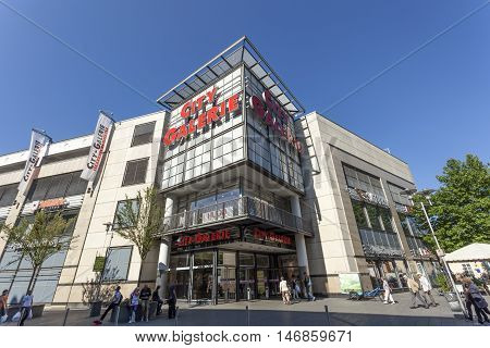 SIEGEN GERMANY - SEP 8 2016: The City Galerie shopping center in the city of Siegen. North Rhine Westphalia Germany