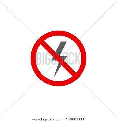No power lightning icon illustration