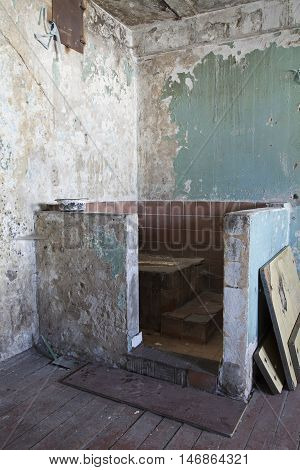 Filthy toilet in prison of an abandoned Penitentiary