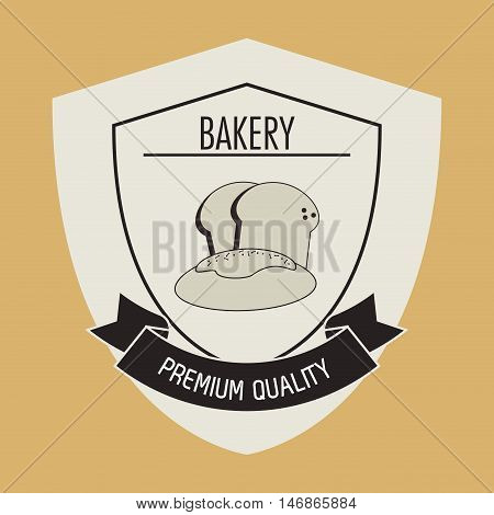 flat design bakery related emblem image vector illustration