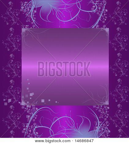 Purpur mit floral abstrakt