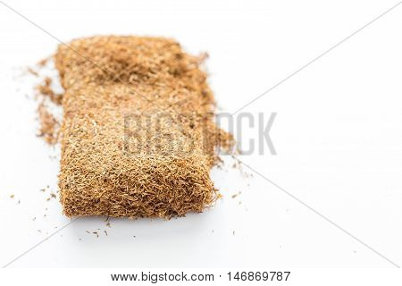 Macro Photo Of Pressed Tobacco For Pipe
