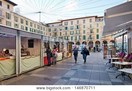 Plaza Mayor Christmas Market Booths