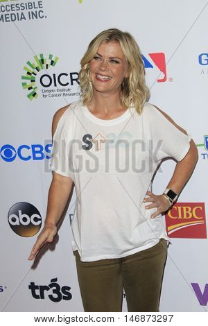 LOS ANGELES - SEP 9:  Allison Sweeney at the 5th Biennial Stand Up To Cancer at the Walt Disney Concert Hall on September 9, 2016 in Los Angeles, CA