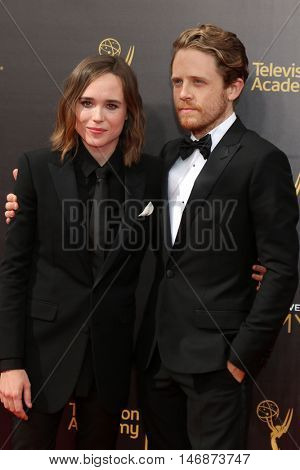 LOS ANGELES - SEP 11:  Ellen Page, Ian Daniel at the 2016 Primetime Creative Emmy Awards - Day 2 - Arrivals at the Microsoft Theater on September 11, 2016 in Los Angeles, CA