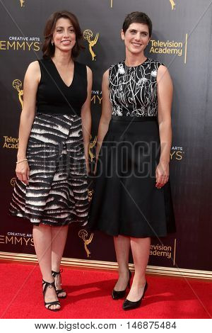 LOS ANGELES - SEP 11:  Laura Ricciardi, Moira Demos at the 2016 Primetime Creative Emmy Awards - Day 2 - Arrivals at the Microsoft Theater on September 11, 2016 in Los Angeles, CA