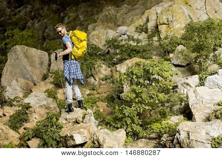 Young Man Hiking