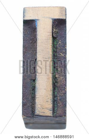 Wooden T Letter