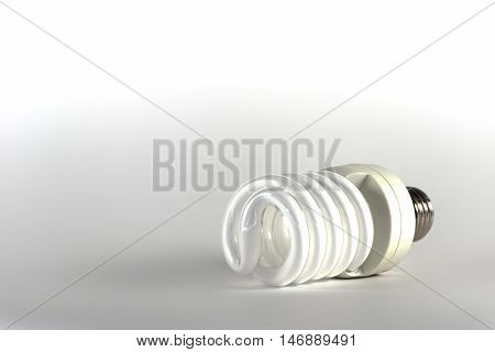 Energy Saving Light Bulb. Modern Lighting Method.