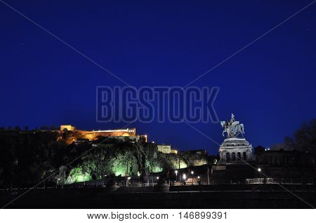 Koblenz City Germany with historic German Corner where Rhine and moselle flow together 8