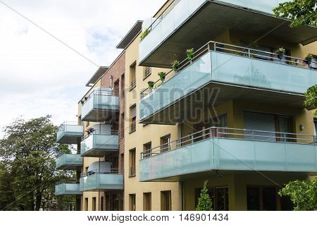 Modern House With Beautiful Glass Balconies