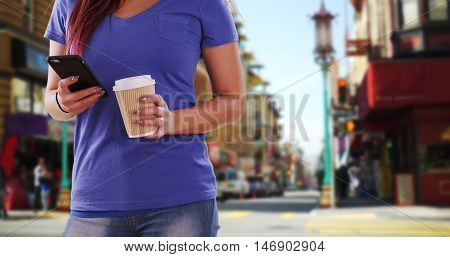 Asian Woman Resting On A Nearby Bench In The Desrt