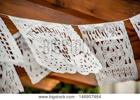 Mexican Cut Tissue Paper Banner Wedding Decoration