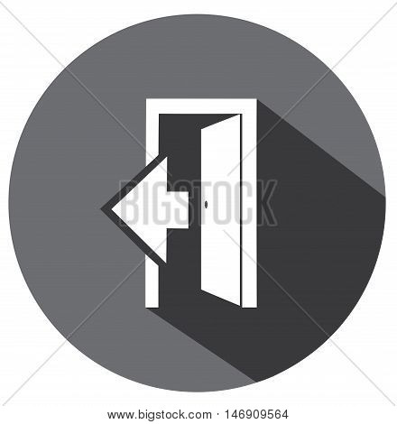 vector illustration of a flat door icon