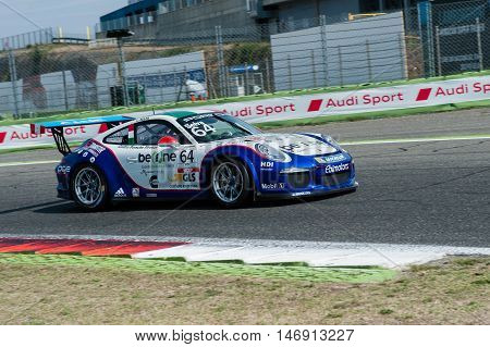 Vallelunga, Rome, Italy. September 10Th 2016. Porsche Carrera Cup, Car In Action