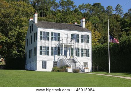 A historical building on Mackinac Island, Michigan