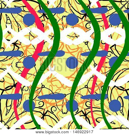 Abstract artistic shapes block background. Seamless pattern. Vector. Urban