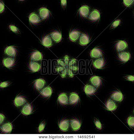 Abstract colors circle on a black background