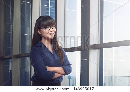 Confindent Asian Business Woman