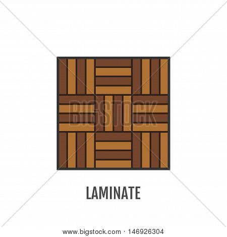 Flat icon of laminate. Finishing materials and floor coverings. Vector illustration