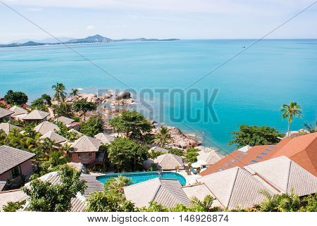 Houses On The Hill With Sea View. Thailand