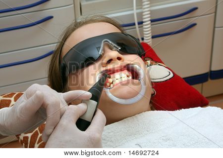 at the orthodontist