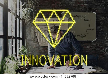 Be Creative New Imagination Innovation Graphic Concept