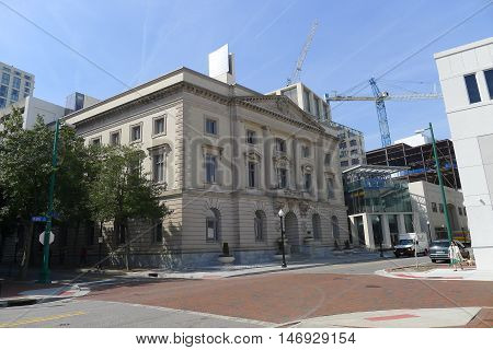 Norfolk, VA - March 24: Old City Hall (Slover Library Seaboard Building) of Norfolk, Virginia on March 24, 2016
