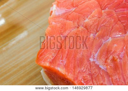 Beef slice  for cooking steak in kitchen