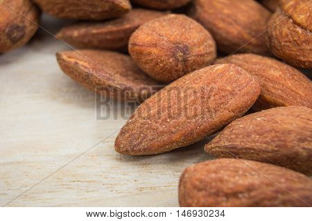 The Alomonds Salted snack food  for back ground