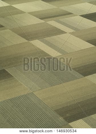 Tiles Carpet with Light Brown and Grey strips