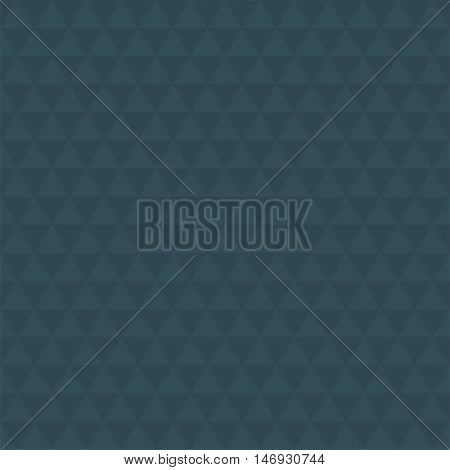 Abstract dark blue triangle background, simple vector illustration