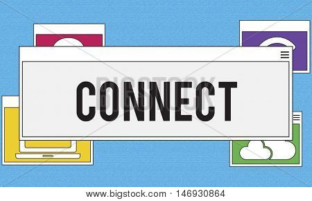 Communication Technology Online Networking Connection Concept