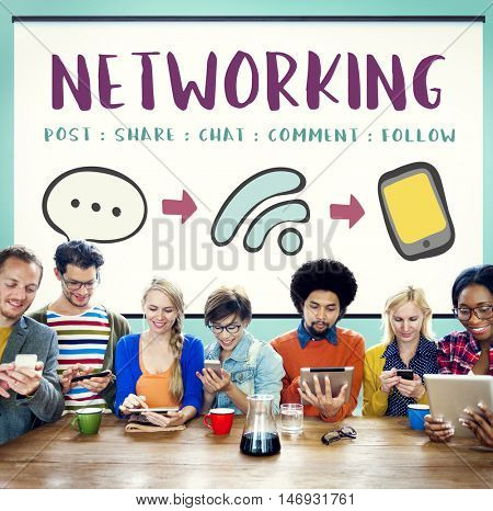 Social Media Networking Online Communication Connect Concept