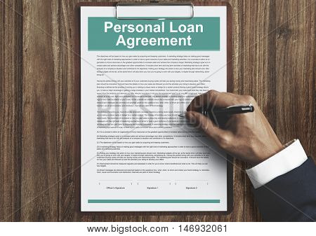 Personal Loan Agreement Banking Credit Contract Concept