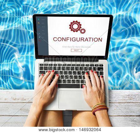 Configuration Update Program Repair Setting Installation Concept