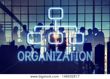 Organization Chart Business Company Concept