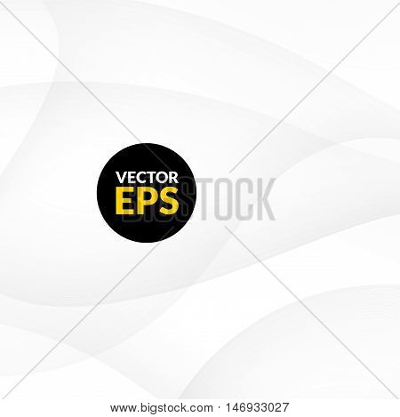 Abstract white background with smooth lines, vector illustration