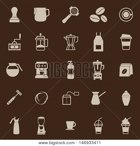 Barista color icon on brown background, stock vector