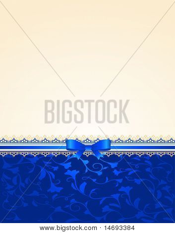 Background with lace and bow